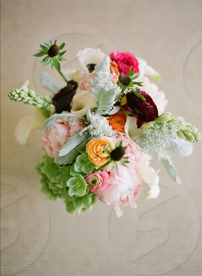 Flowers bouquet colors vibrant wedding beautiful pinkgreen orange burgundy floral floral arrangement photo