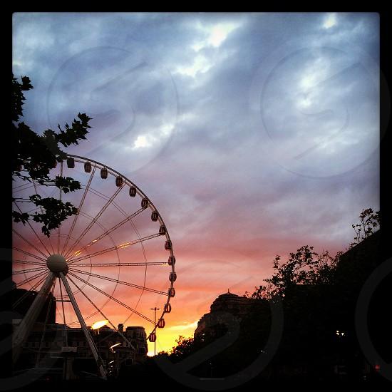 The Manchester Wheel sunset. photo