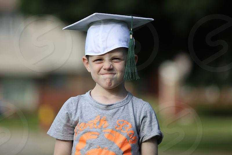 Graduation pre school cap and tassel photo