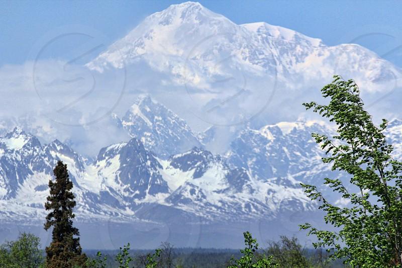 Denali (Mt. McKindley) taken from approximately 65 miles away. photo
