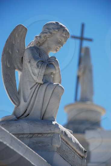 angels in a new orleans cemetary. photo