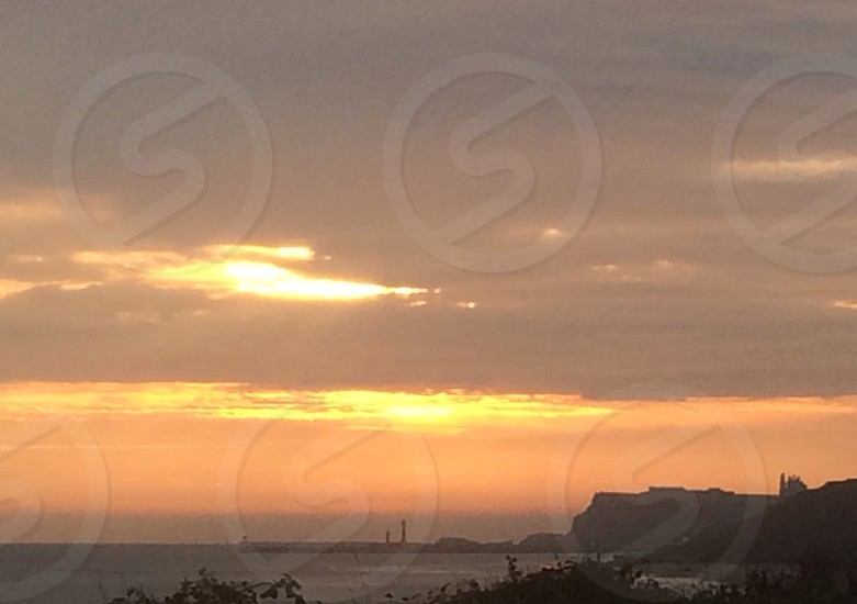 Sunrise over Whitby photo