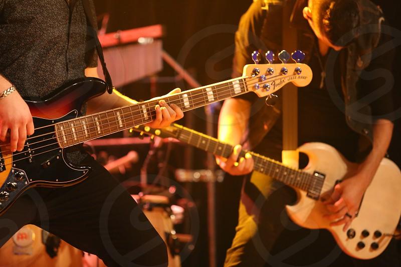 music venue audio controls night concert photo