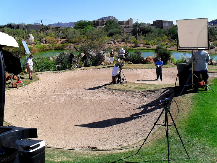 Golf Course Shoot Desert Sun photo