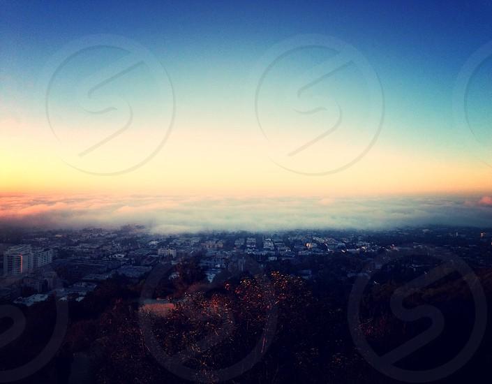 fog blanket LA photo
