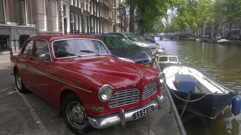 Travel Drive Boat River Europe Amsterdam Netherlands photo