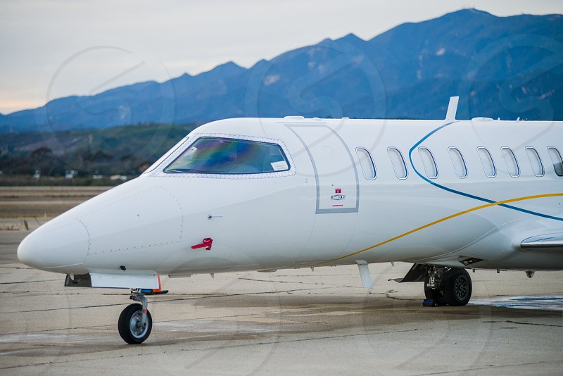 nondescript small commercial jet photo