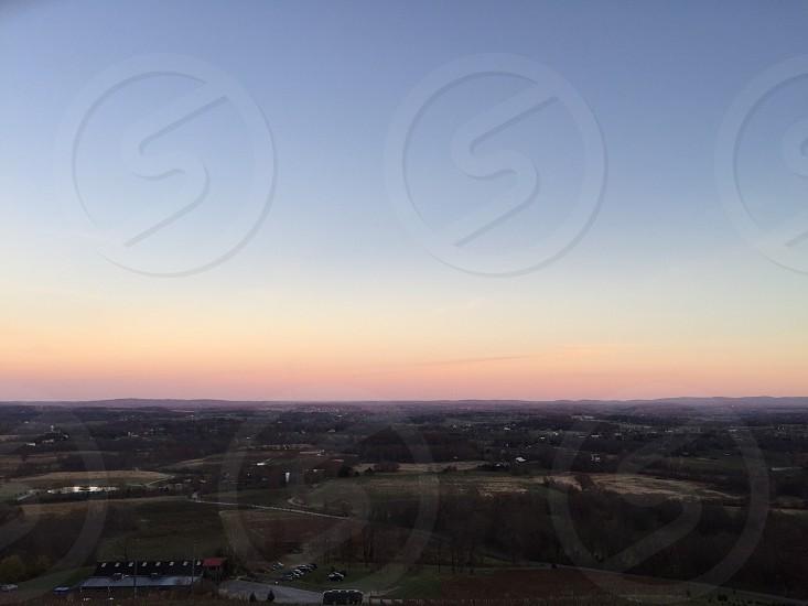 Virginia sunset. Winery. Landscape photo