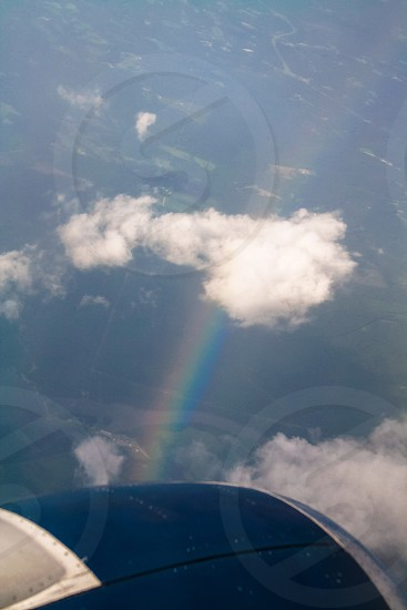 Rainbow from a plane photo