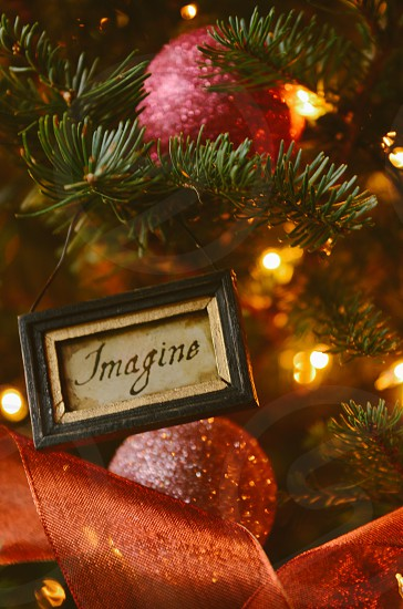 Christmas holiday Imagine ornaments tree lights photo