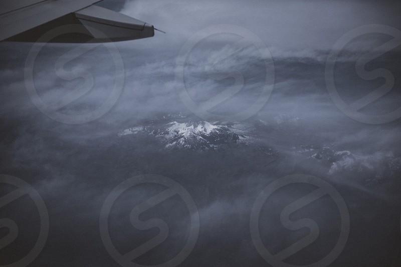 JetBlue plane mountain beautiful  photo