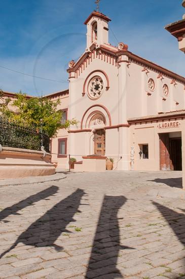 Sakya Tashi Ling monastery building facade. El Garraf Barcelona photo