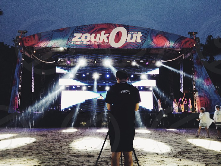 Dance mysic festival. Zoukout 2013 at Sentosa Singapore photo
