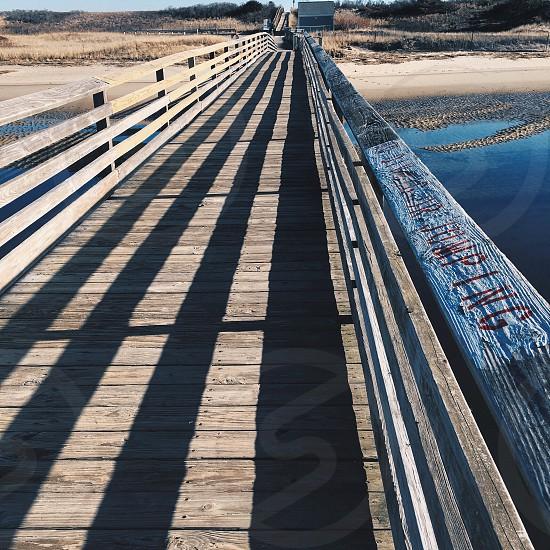 Pier Boardwalk walkway coast coastal path outdoors photo