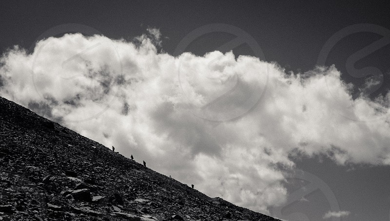 grayscale clouds photo photo