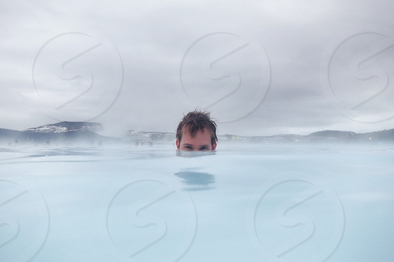 Hot spring Blue Lagoon Iceland photo