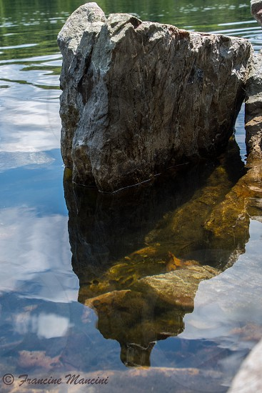 Lake rock reflections country water photo