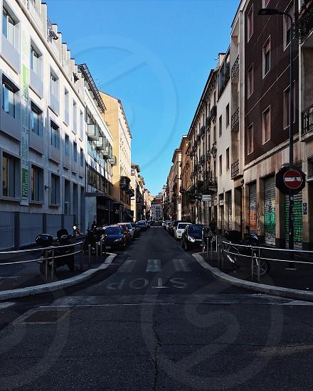 Milan. Street view photo