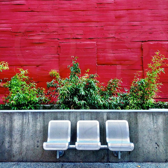 silver bench chair photo