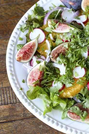Orange & date salad with figs figs salad fresh photo