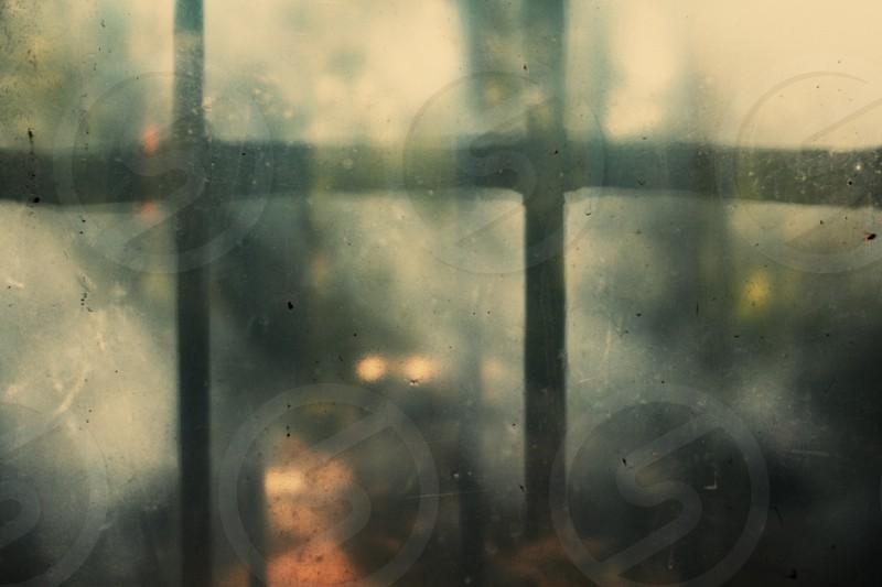 Shadow of bars on window. photo