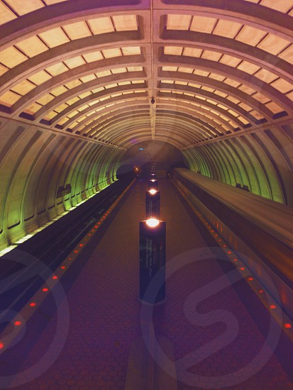 view of a brown tunnel photo