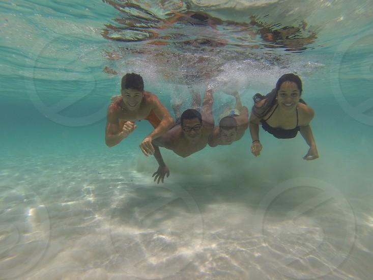 Having fun underwater. photo