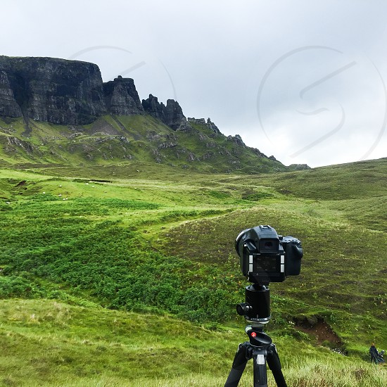 Camera photography nature landscape behind the scenes tripod create creative nature peaceful tranquil phase one digital hiking Scotland travel adventure photo