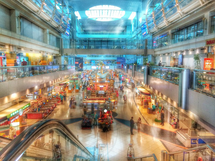 Dubai airport HDR travel iPhone  photo