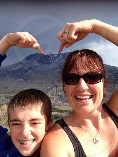 Touching Mt. St. Helens photo
