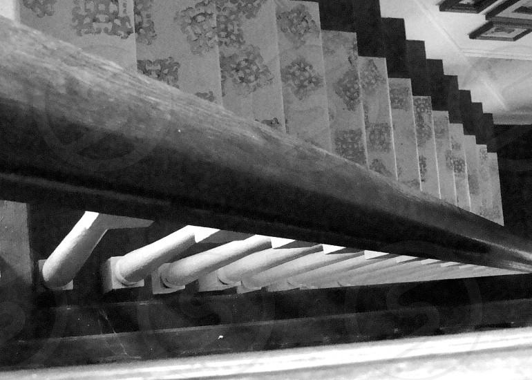 gray stair rug  photo
