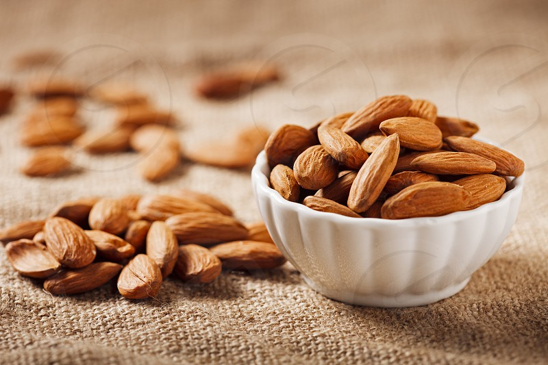 Eating Healthy - Almonds nuts snack photo