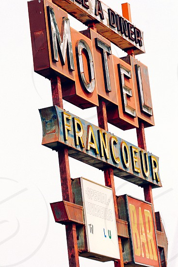 'Motel Francoeur' sign; Quebec Canada photo