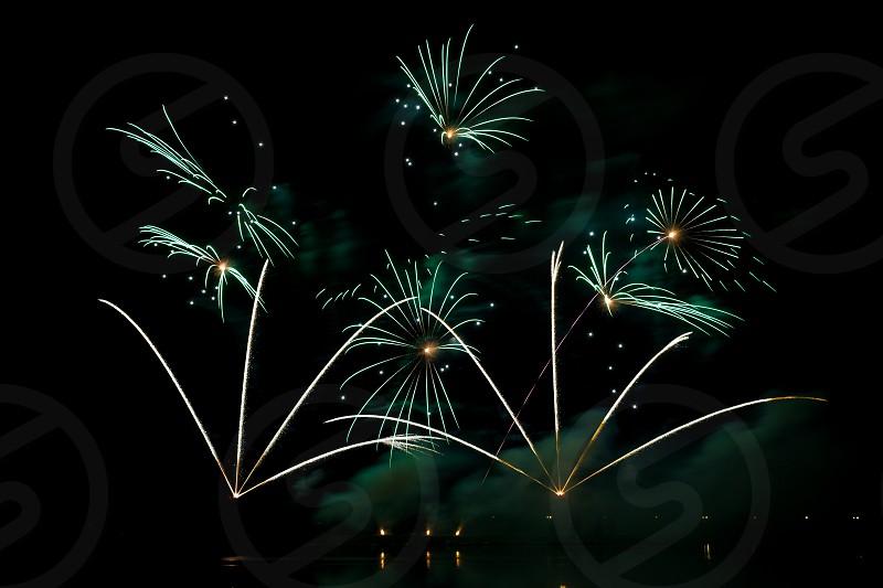 Globalfest Fireworks Festival in Elliston Park Calgary Alberta Canada  photo