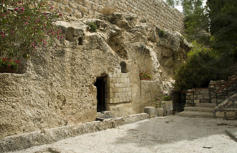 Tomb of Jesus Christ in Jersualem according the bible  photo