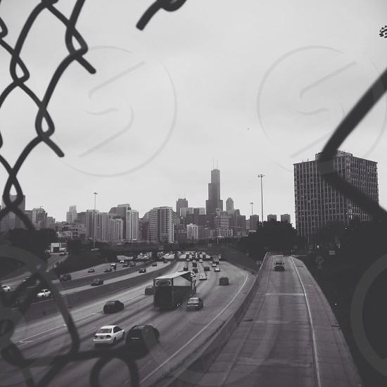 Chicago Sears Tower Willis Tower Urban city life traffic photo