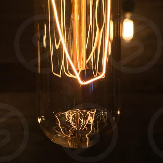 orange light bulb photo