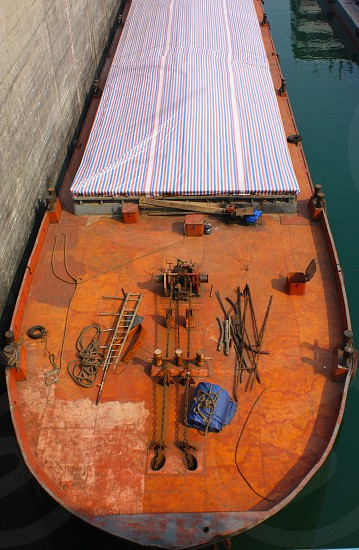 Rusting Cargo Ship Deck photo