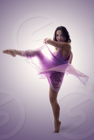 freedom free dance female fabric flow photo