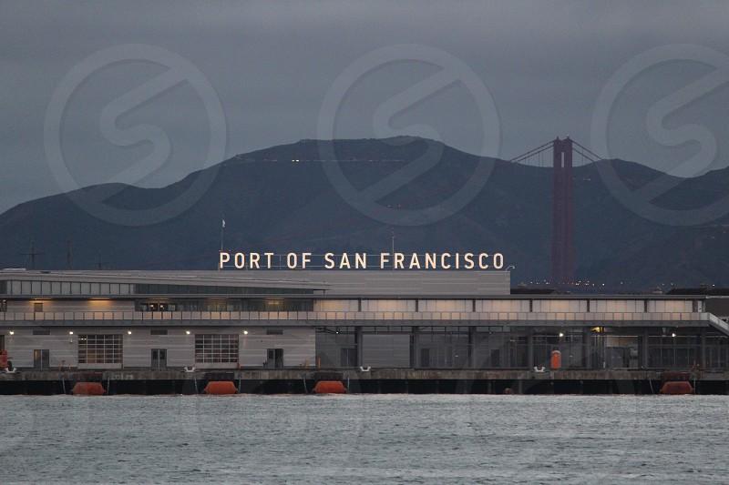San Francisco  port of San Francisco ferry building Golden Gate Bridge  photo