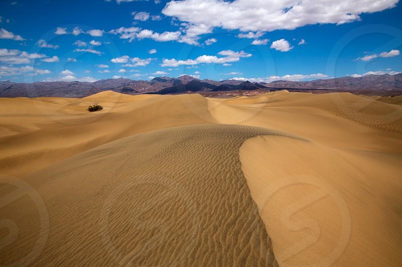 Mesquite Dunes desert in Death Valley National Park California photo