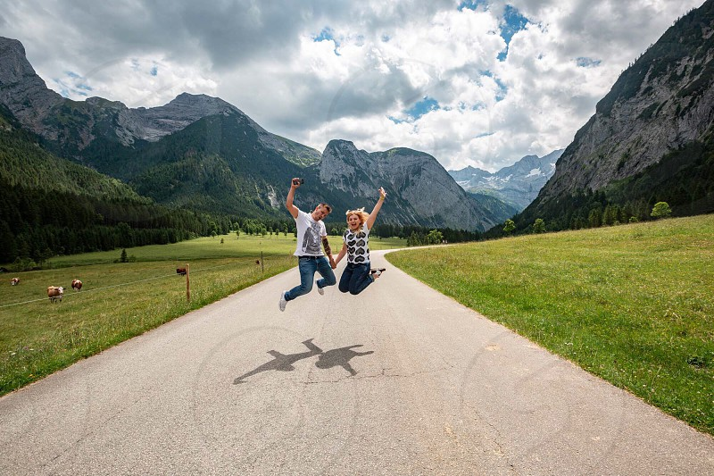 Freedom in the Alps  photo