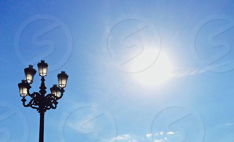 Sun Shining Over Lanterns photo