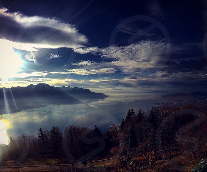 A beautiful landscape in Switzerland Montreux photo
