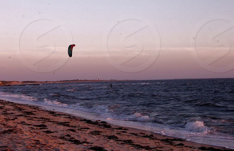 paragliding by the sea photo
