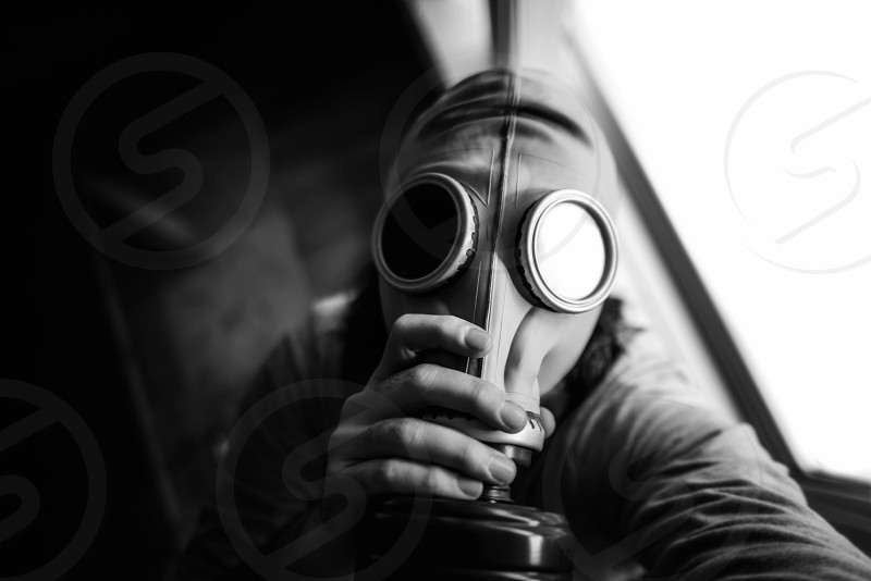 Gas mask apocalyptic bright  photo