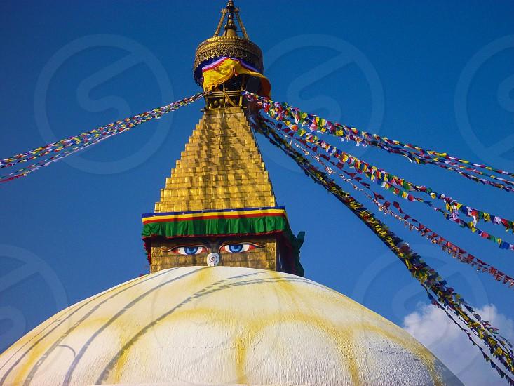 Nepal Stupa Buddhism Prayer Flags photo