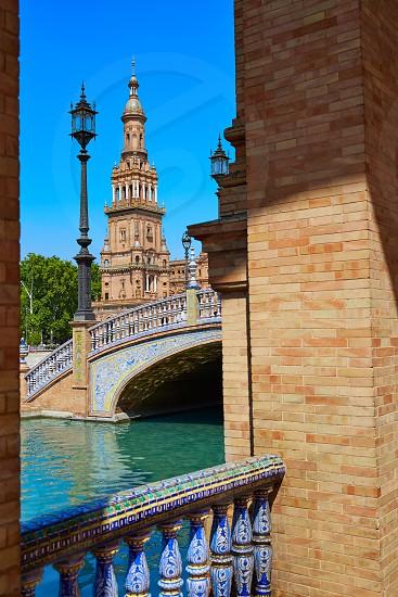 Seville Sevilla Plaza de Espana Andalusia Spain square photo