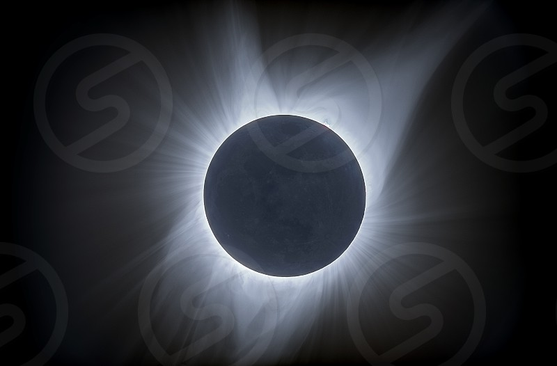 A total eclipse of the sun as seen from Douglas Wyoming photo