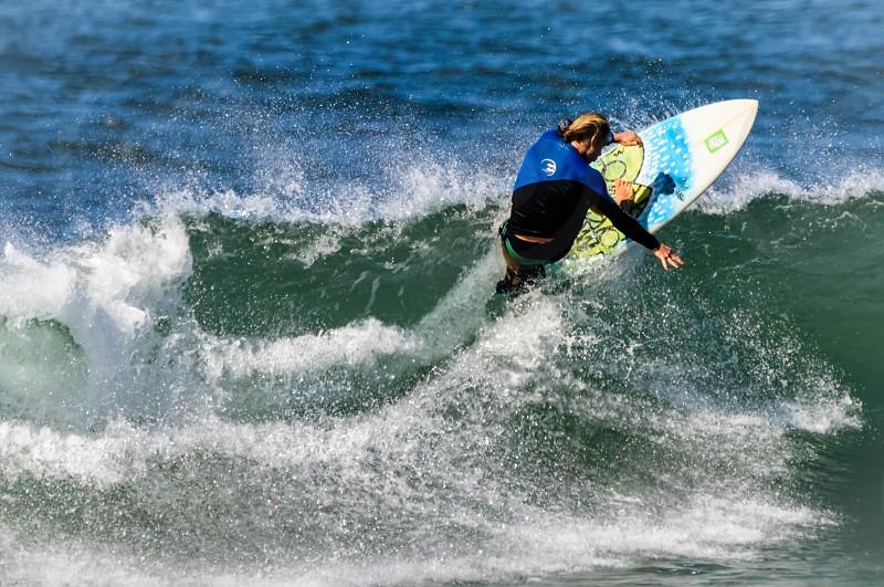 surfing boogie board waves Hawaii photo
